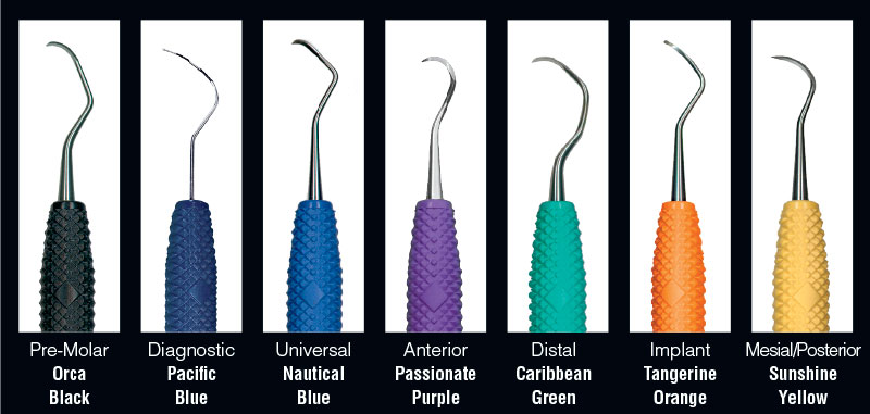 PDT Dental Instruments are Anatomically Color-Coded