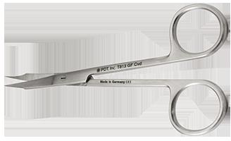 T813 Scissors Goldman-Fox curved 12.5