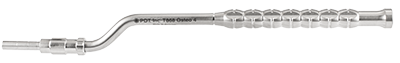 T868 Osteotome with stop, concave, offset, 4mm